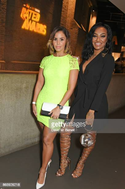 Shanie Ryan and Karis Anderson attend The KA GRM Daily Rated Awards at The Roundhouse on October 24 2017 in London England