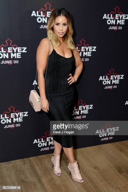 Shanie Ryan attends the 'All Eyez On Me' UK Film Premiere on June 27 2017 in London England