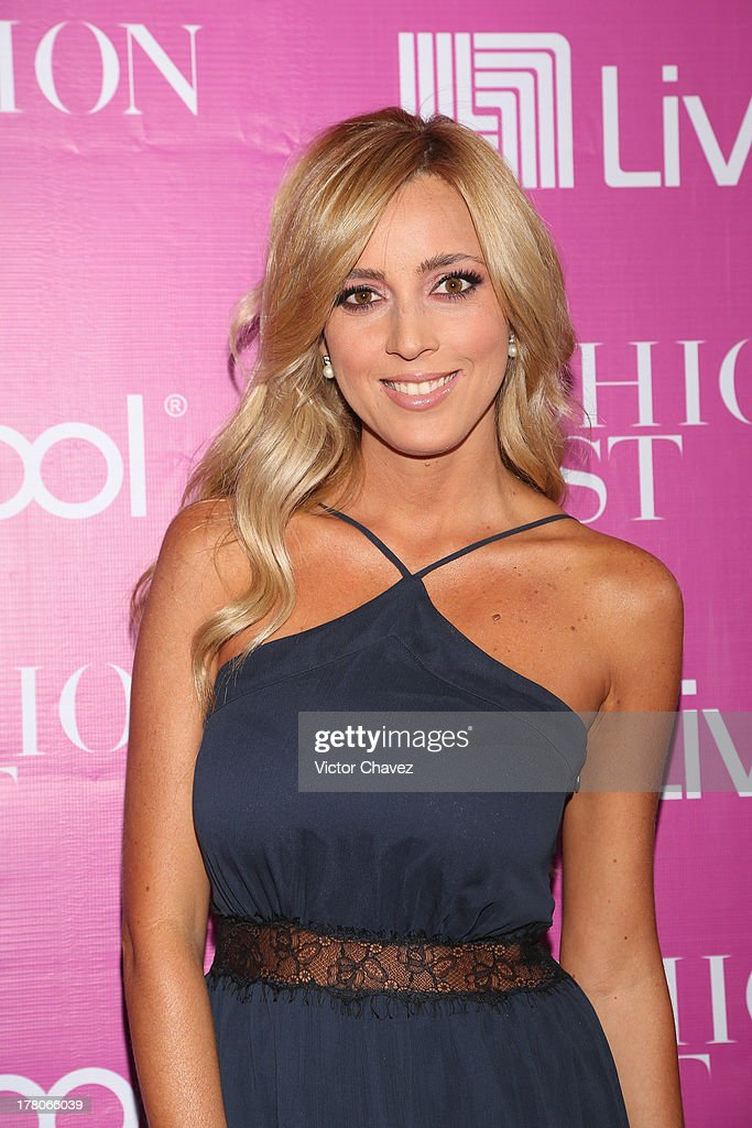 Shanik Aspe attends the Liverpool Fashion Fest Autumn/Winter 2013 at Club de Banqueros on August 22, 2013 in Mexico City, Mexico.