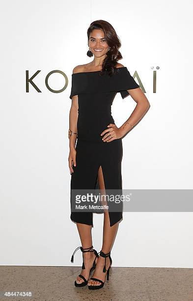 Shanina Shaik arrives ahead of the KOOKAI Spring/Summer 2016 runway show at Carriageworks on August 19 2015 in Sydney Australia