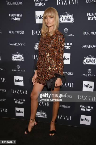 Shanina Shaik attends Harper's BAZAAR Celebration of 'ICONS By Carine Roitfeld' at The Plaza Hotel presented by Infor Laura Mercier Stella Artois...