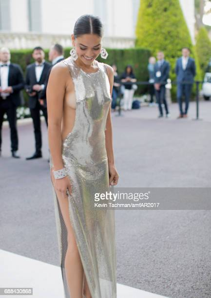 Shanina Shaik attends the amfAR Gala Cannes 2017 at Hotel du CapEdenRoc on May 25 2017 in Cap d'Antibes France