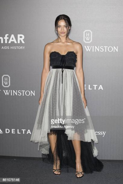 Shanina Shaik attends the red carpet of amfAR Gala Milan at La Permanente in Milano Italy on September 2017