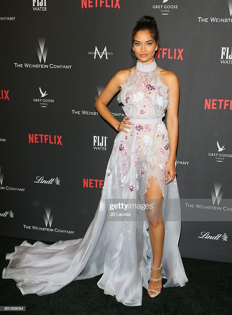 Shanina Shaik attends The Weinstein Company and Netflix Golden Globe Party, presented with FIJI Water, Grey Goose Vodka, Lindt Chocolate, and Moroccan Oil at The Beverly Hilton Hotel on January 8, 2017 in Los Angeles, California.