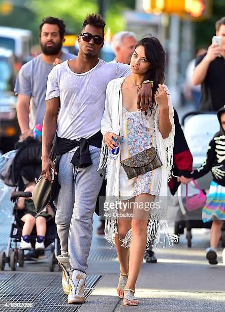 Shanina Shaik is seen in Soho on June 7 2015 in New York City