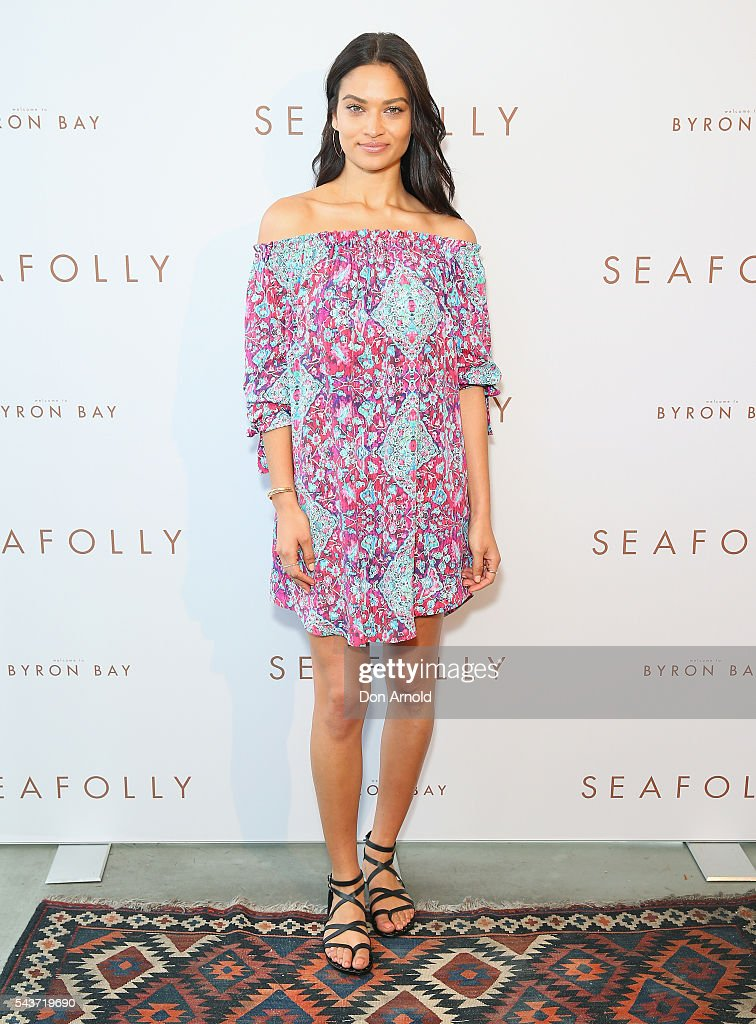 <a gi-track='captionPersonalityLinkClicked' href=/galleries/search?phrase=Shanina+Shaik&family=editorial&specificpeople=5556870 ng-click='$event.stopPropagation()'>Shanina Shaik</a> poses during the Seafolly Spring 2016 Campaign Launch at North Bondi Fish on June 30, 2016 in Sydney, Australia.