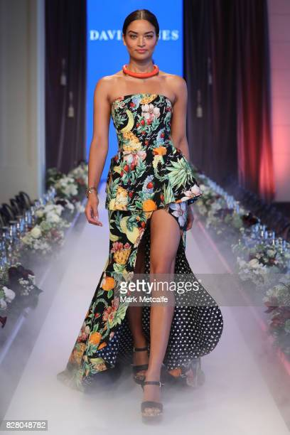 Shanina Shaik walks the runway in a design by Camilla during rehearsal ahead of the David Jones Spring Summer 2017 Collections Launch at David Jones...