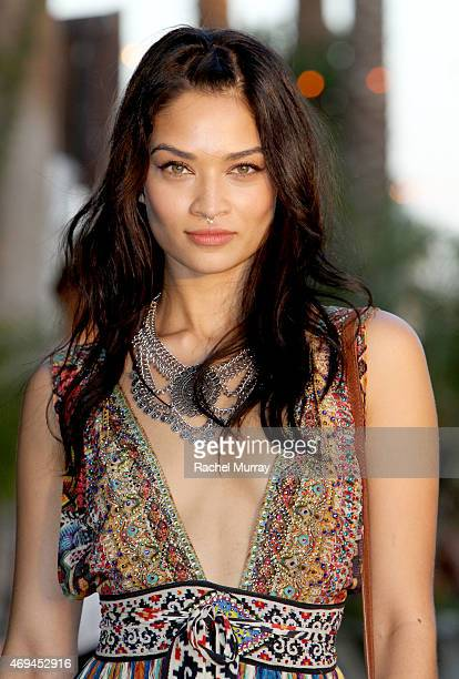 Anina Shaik wearing Camilla with Love during the 2015 Coachella Valley Music and Arts Festival Weekend 1 at The Empire Polo Club on April 11 2015 in...