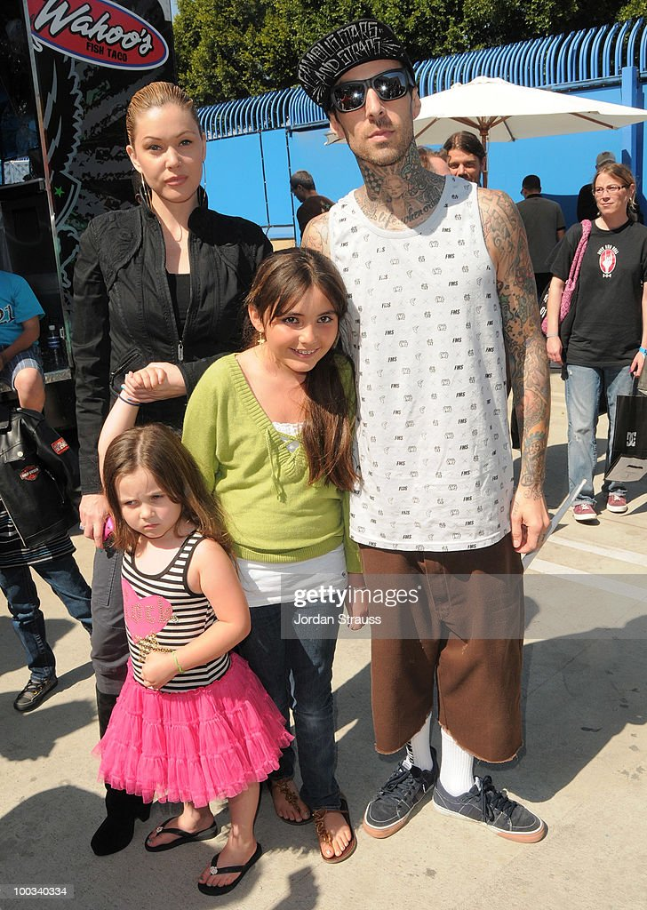 Shanna Moakler, Travis Barker and family attend Rob Dyrdek Foundation SK8 4 Life Benefit Presented by Panasonic & Carl's Jr at Fantasy Factory on May 22, 2010 in Los Angeles, California.