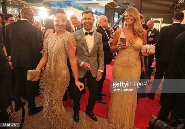 Shannan Ponton Libby Babet and Fiona Falkiner arrive at the 59th Annual Logie Awards at Crown Palladium on April 23 2017 in Melbourne Australia