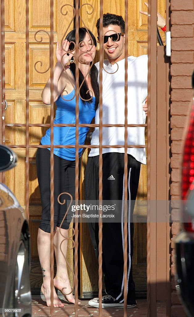 Shannen Doherty and Mark Ballas (R) are seen on March 26, 2010 in Los Angeles, California.