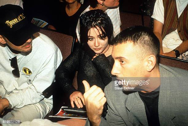 Shannen Doherty and Rob Weiss at Lifebeat benefit New York June 24 1994