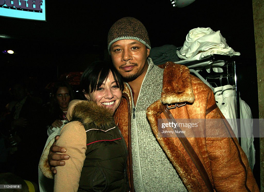 Shannen Doherty and Terrence Howard during 2005 Park City Shutterfly Panasonic Lounge at Marquee at Marquee in Park City Utah United States