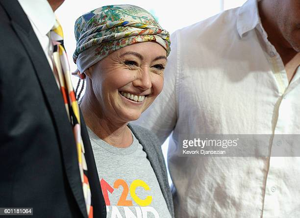 Shannen Doherty attends Hollywood Unites for the 5th Biennial Stand Up To Cancer A Program of The Entertainment Industry Foundation at Walt Disney...