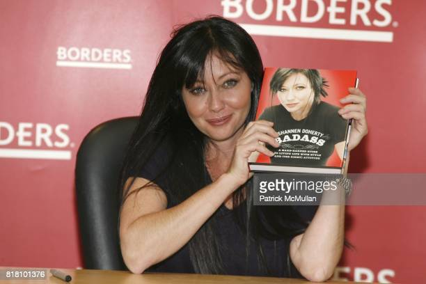 Shannen Doherty attends Shannen Doherty book signing of her book 'Badass' at Borders Books on November 2 2010 in New York City