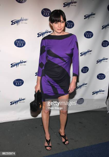 Shannen Doherty attends the Sapphire Gentlemen's Club and Prime 333 grand opening on April 27 2009 in New York City