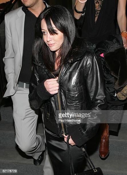 Shannen Doherty attends the Zac Posen after party February 10 2005 in New York City