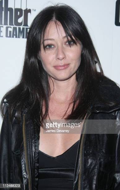 Shannen Doherty during EA Games Launches ''The Godfather'' the Game at Il Cortile in New York City New York United States