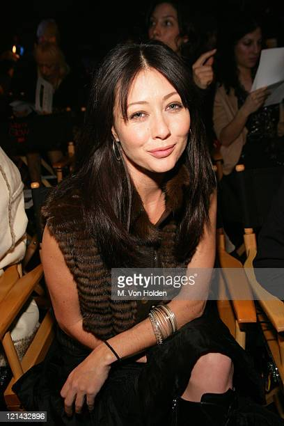 Shannen Doherty during Jennifer Lopez Fashion Show during Olympus Fashion Week at Atelier at Bryant Park in New York New York United States