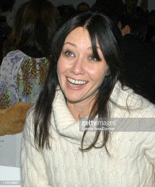 Shannen Doherty during Olympus Fashion Week Fall 2005 Target Doggie Fashion Show Front Row at Bryant Park in New York City New York United States