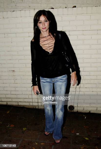 Shannen Doherty during Party Announcing the Partnership Between Fashion Designer Stella McCartney and Absolut at Chateau Marmont Hotel in West...
