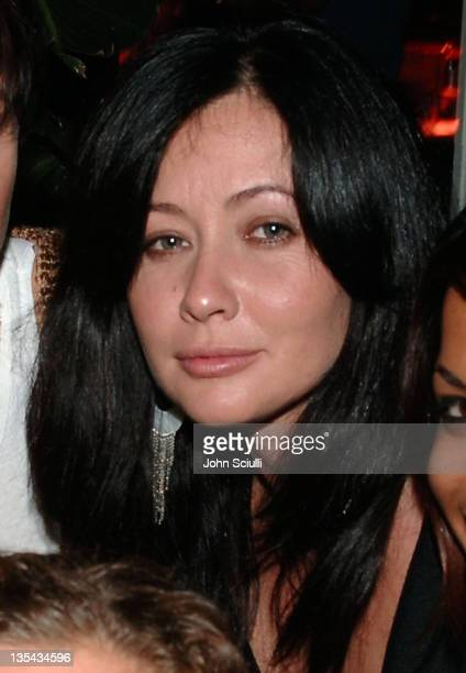 Shannen Doherty during Quiksilver and Roxy Crossing Party at Sunset Room in Malibu CA United States
