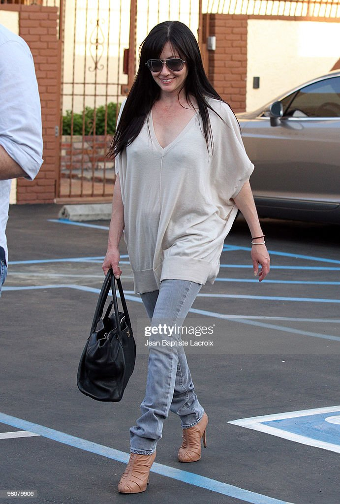 Shannen Doherty is seen on March 26, 2010 in Los Angeles, California.