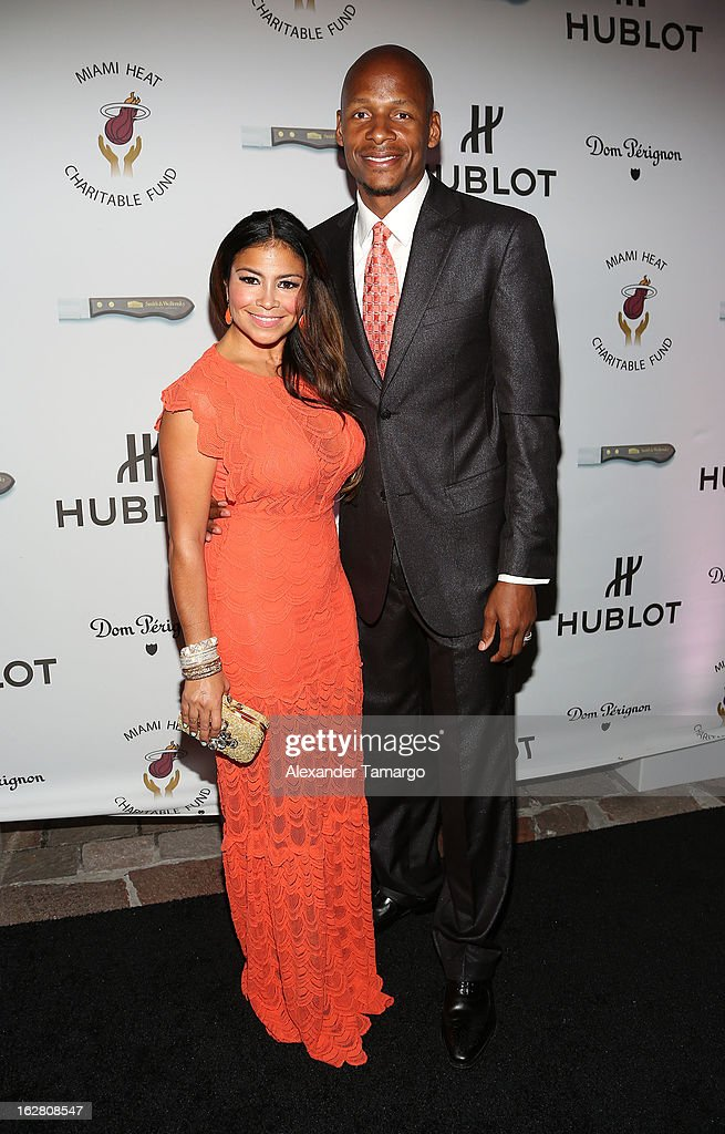 Shannon Allen and Ray Allen attend the Miami HEAT Family Foundation night of 'Motown Revue' on February 27, 2013 in Miami, Florida.