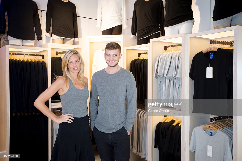 TORONTO ON NOVEMBER 13 Shannon and JJ Wilson the son and wife of Lululemon founder Chip Wilson have launched their own high end street wear line Kit...