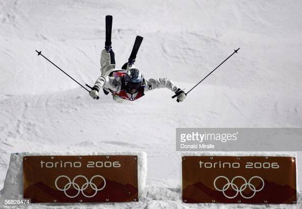 Shannon Bahrke of the United States competes in the Womens Freestyle Skiing Moguls Final on Day 1 of the 2006 Turin Winter Olympic Games on February...