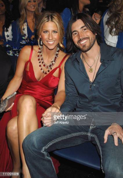 Shannon Brown and guest during 2007 CMT Music Awards Backstage and Audience at The Curb Event Center at Belmont University in Nashville Tennessee...