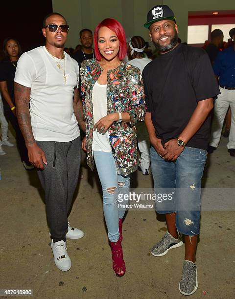 Shannon Brown Monica and Alex Gidewon attend the Ludacris Official Birthday Celebration Hosted By the Cast of 'POWER' at The Compound on September 5...