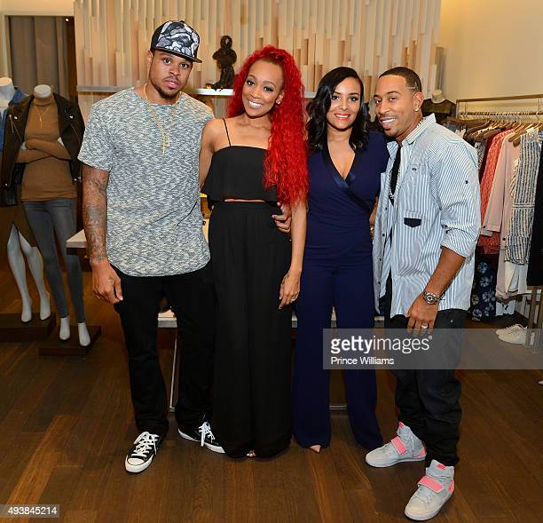 Shannon Brown Monica Brown Eudoxie Agnan Bridges and Chris 'Ludacris' Bridges attend Unspoken Angels Charity Event For Domestic Violence Awareness...