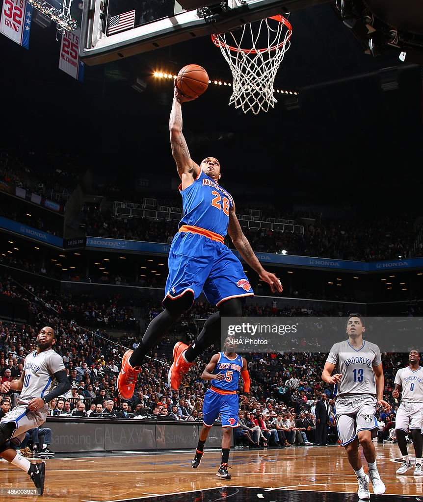 Shannon Brown #26 of the New York Knicks shoots during a game against the Brooklyn Nets at Barclays Center in Brooklyn.