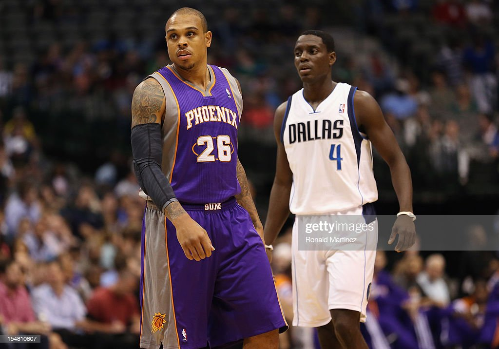 Shannon Brown #26 of the Phoenix Suns during a preseason game at American Airlines Center on October 17, 2012 in Dallas, Texas.