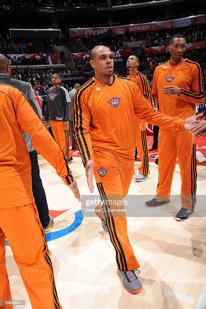 Shannon Brown #26 of the Phoenix Suns gets introduced before the game against the Los Angeles Clippers at Staples Center on December 8, 2012 in Los Angeles, California.
