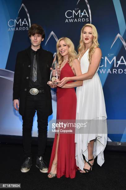 Shannon Campbell Kim Campbell and Ashley Campbell pose in the media room during the 51st annual CMA Awards at the Bridgestone Arena on November 8...