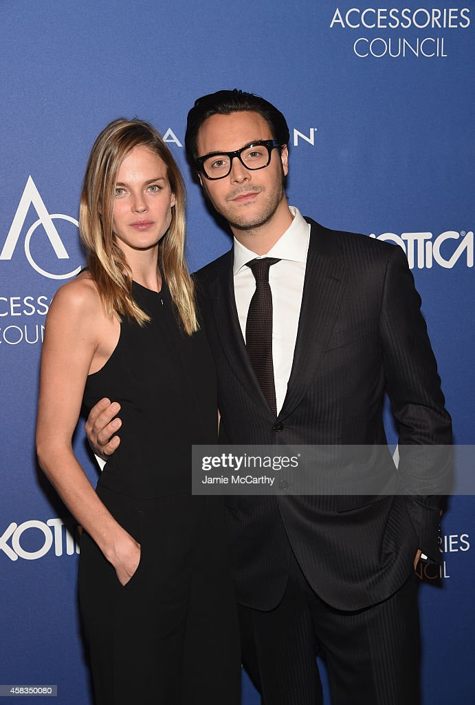 Shannon Click and Jack Huston attend the 18th Annual Accessories Council ACE Awards At Cipriani 42nd Street at Cipriani 42nd Street on November 3...