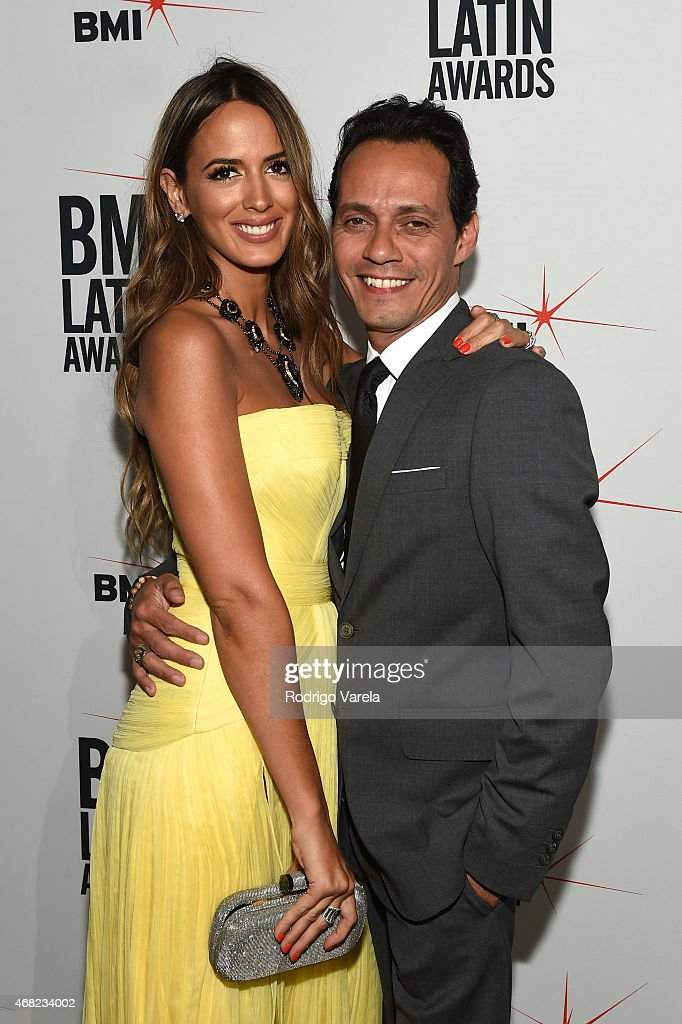 Shannon De Lima and Marc Anthony attend BMI's 22nd Annual Latin Music Awards at Fountainbleau Miami Beach on March 31 2015 in Miami Beach Florida