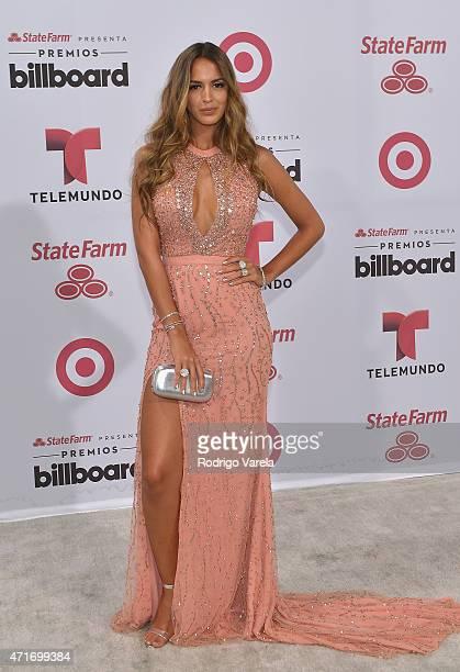 Shannon De Lima arrives at 2015 Billboard Latin Music Awards presented bu State Farm on Telemundo at Bank United Center on April 30 2015 in Miami...
