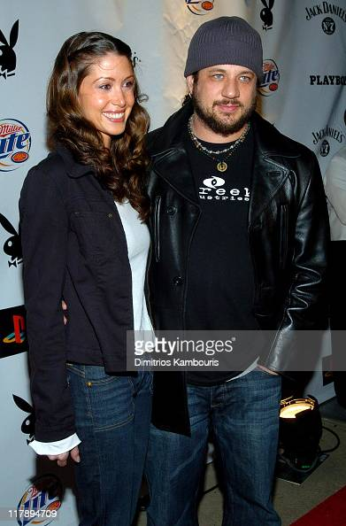 Shannon Elizabeth and Joe Reitman during Playboy's Annual Super Saturday Night Event Brings 'Heaven and Hell' to Houston at Corinthian in Houston...