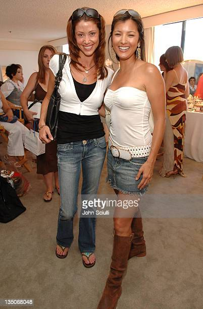 Shannon Elizabeth and Kelly Hu during ESPY Style Lounge Day 2 at Mondrian Hotel in Los Angeles California United States