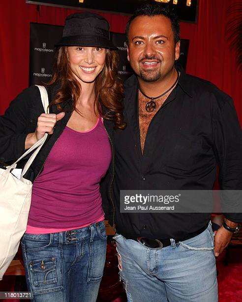 Shannon Elizabeth and Napoleon Perdis during Silver Spoon PreGolden Globe Hollywood Buffet Day 1 at Private Residence in Los Angeles California...