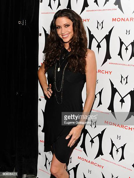 Shannon Elizabeth attends the Monarchy Show during MercedesBenz Fashion Week Spring 2010 at Bryant Park on September 11 2009 in New York City