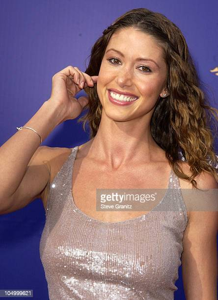 Shannon Elizabeth during 2002 World Stunt Awards at Barker Hanger in Santa Monica California United States