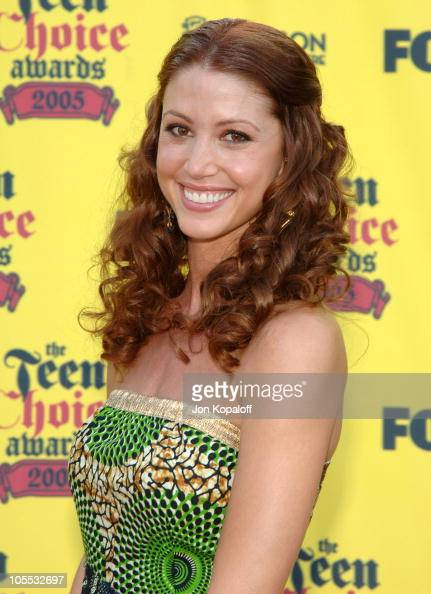 Shannon Elizabeth during 2005 Teen Choice Awards Arrivals at Gibson Amphitheater in Universal City California United States