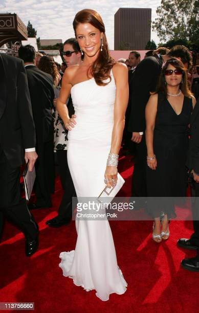 Shannon Elizabeth during 57th Annual Primetime Emmy Awards Red Carpet at The Shrine in Los Angeles California United States
