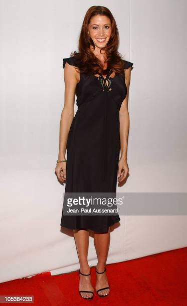 Shannon Elizabeth during CBS and UPN 2005 TCA Party Arrivals at Quixote Studios in Los Angeles California United States