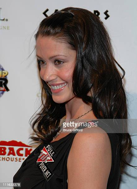 Shannon Elizabeth during Draw Party 3rd Annual HeadsUp Poker Championship at Pure Nightclub in Las Vegas Nevada United States