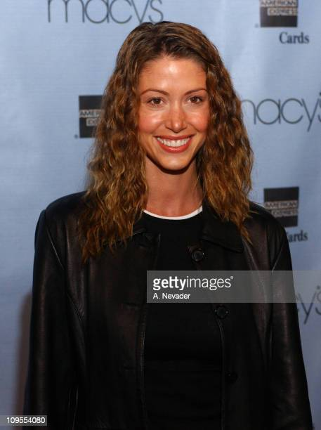 Shannon Elizabeth during Macy's and American Express 'Passport 2002' 20th Anniversary Gala Arrivals at Barker Hangar in Santa Monica California...